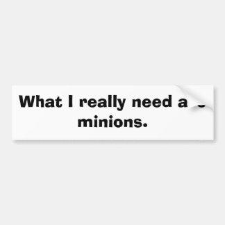 Minions Car Bumper Sticker