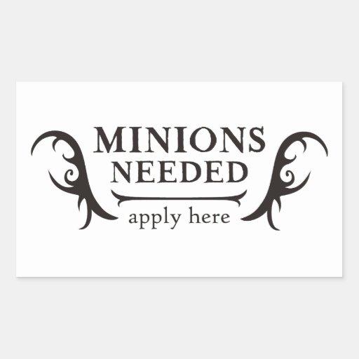 Minions Needed Rectangle Sticker