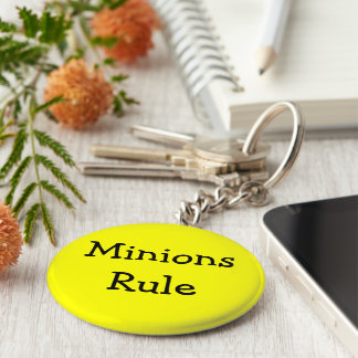 Minions Rule Basic Round Button Key Ring