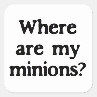 Minions Square Sticker