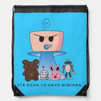 """Minions"" String Bag - An Angry Baby Design Drawstring Backpacks"