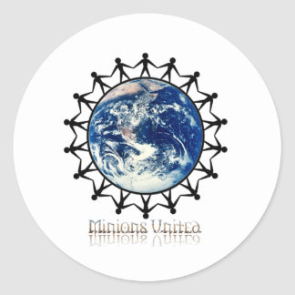 Minions United World Branded Range Round Sticker