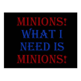 Minions! What I need is minions! Postcard