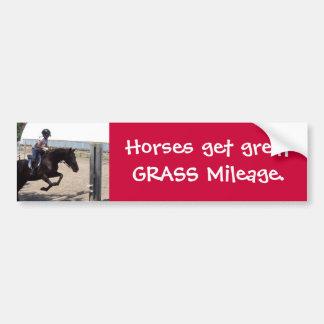 MINIs get great Grass Mileage. Bumper Sticker