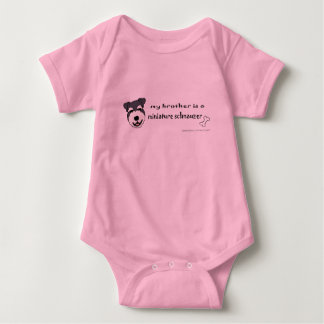 MiniSchnauzerBrother Baby Bodysuit