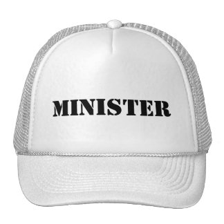 MINISTER BASEBALL CAP TRUCKER HATS