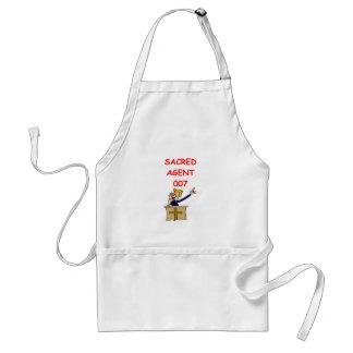minister joke standard apron