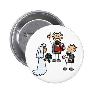 Minister Priest Reverend Performs Wedding Ceremony 6 Cm Round Badge