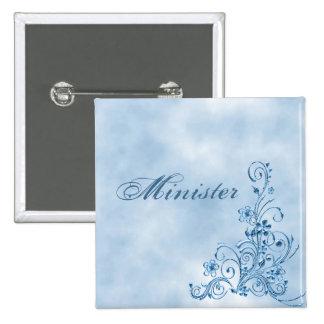 Minister Square Button Sky Blue Elegance