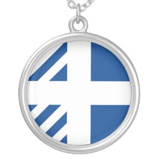 Ministers Of Greece, Greece flag Silver Plated Necklace