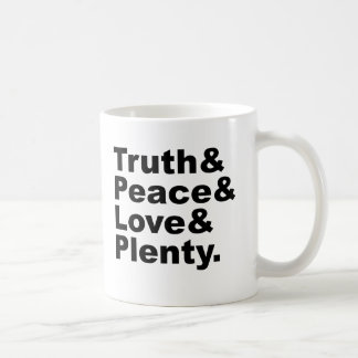 Ministries of Truth & Peace & Love & Plenty Coffee Mug