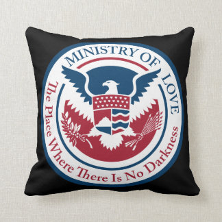 ministry of love, official seal cushion