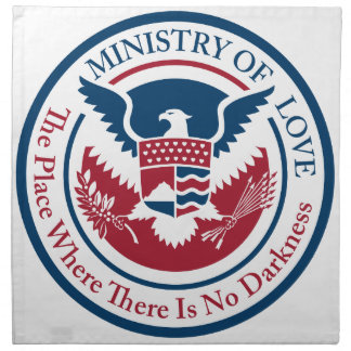 ministry of love, official seal napkin