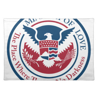 ministry of love, official seal placemat
