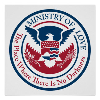 ministry of love, official seal poster