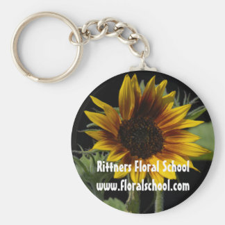 Minisunflowerlargereversed2 Basic Round Button Key Ring