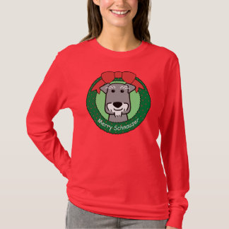 Miniture Schnauzer Christmas T-Shirt