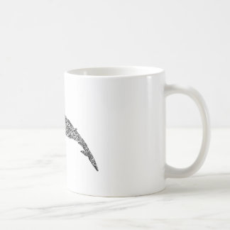 Minke Whale Tribal Graphic Illustration Coffee Mug