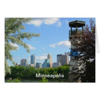 Minneapolis and Boom Island Lighthouse Card