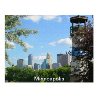 Minneapolis and Boom Island Lighthouse Postcard