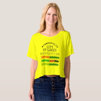 minneapolis city of lakes nice view Design T-Shirt