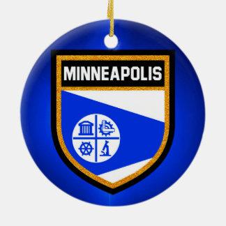 Minneapolis Flag Ceramic Ornament