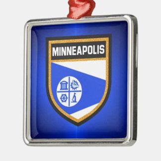 Minneapolis Flag Metal Ornament