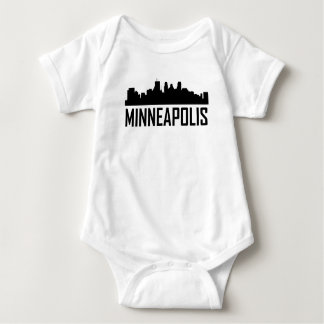 Minneapolis Minnesota City Skyline Baby Bodysuit