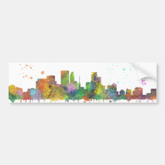 MINNEAPOLIS, MINNESOTA SKYLINE - Car Bumper Sticke Bumper Sticker