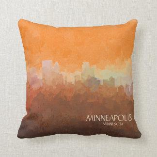 Minneapolis, Minnesota Skyline-In the Clouds Cushion