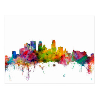 Minneapolis Minnesota Skyline Postcard