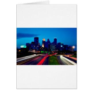 Minneapolis Night Skyline Card