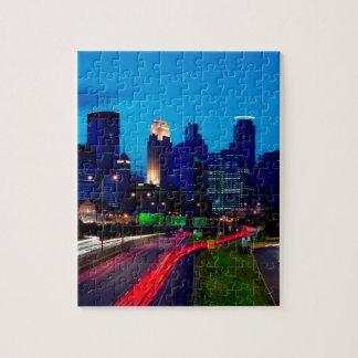 Minneapolis Night Skyline Jigsaw Puzzle