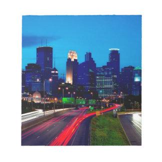 Minneapolis Night Skyline Notepad