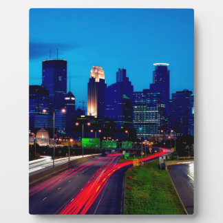 Minneapolis Night Skyline Plaque