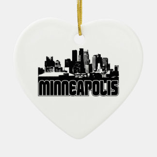 Minneapolis Skyline Ceramic Ornament