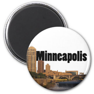 Minneapolis Skyline with Minneapolis in the Sky Magnet