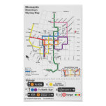 Minneapolis Skyway Map Posters