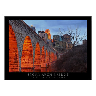 Minneapolis Stone Arch Bridge Poster