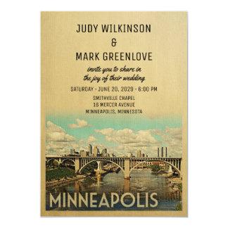 Minneapolis Wedding Invitation Vintage Mid-Century