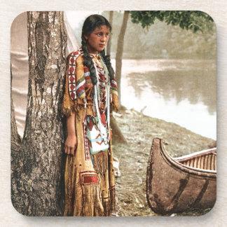 Minnehaha 1897 Native American Hiawatha Vintage Coaster