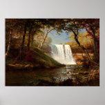 Minnehaha Falls, an Albert Bierstadt artwork Poster