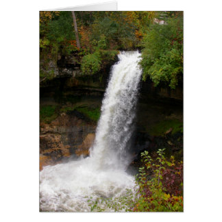 Minnehaha Falls in autumn Card