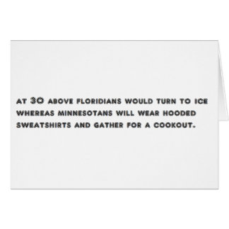 Minnesota and Floridians Card