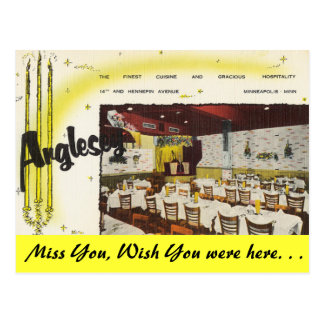 Minnesota, Anglesey Restaurant, Minneapolis Postcard