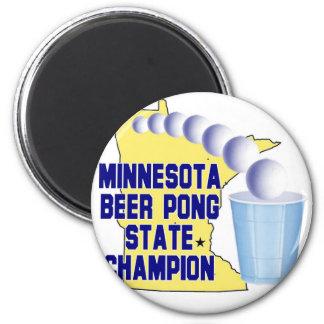 Minnesota Beer Pong Champion Fridge Magnet