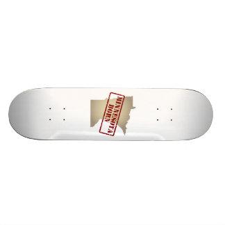 Minnesota Born - Stamp on Map Skate Boards