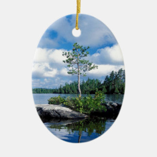 Minnesota Boundary Waters Ceramic Ornament