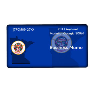 Minnesota Business Label Shipping Label