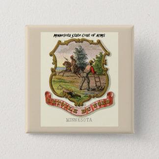 Minnesota Coat of Arms 15 Cm Square Badge